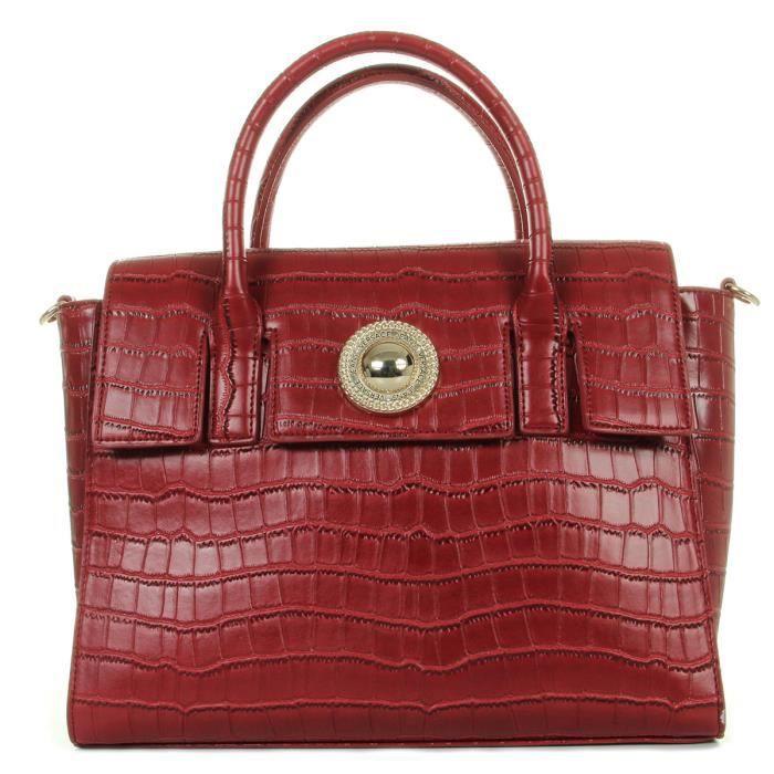 SAC À MAIN Sac Versace Linea G Dis4 500 Cocco Rouge