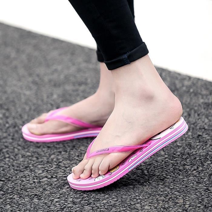 Mignon plat Mules tendance mode Femmes Sandales Chaussures de plage Io8htlj4R