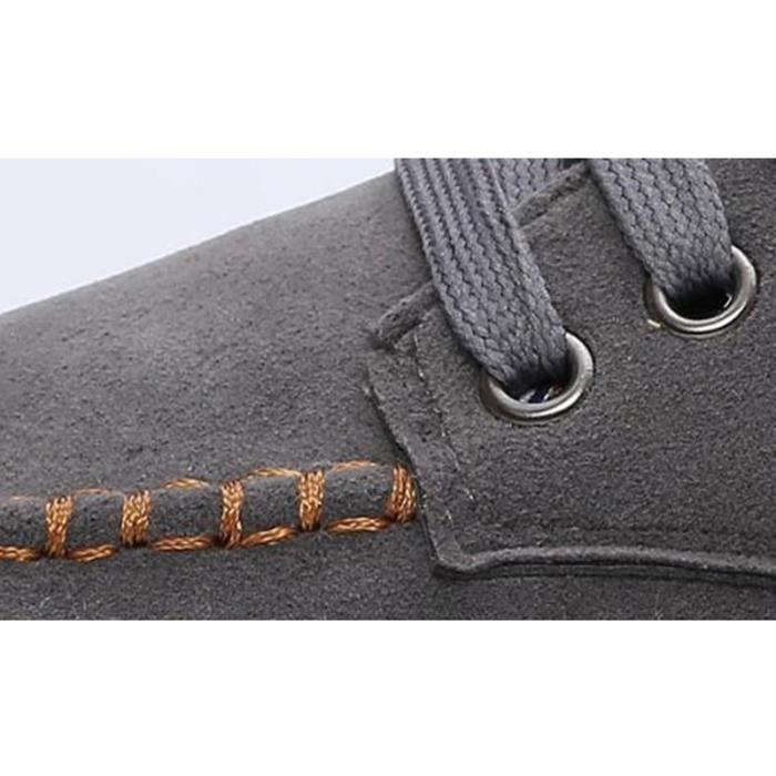 Chaussure Mocassin Homme En Daim Cuir Patchwork Occasionnels Étudiant Durable XX-XZ113Gris39 4i1lzqgp