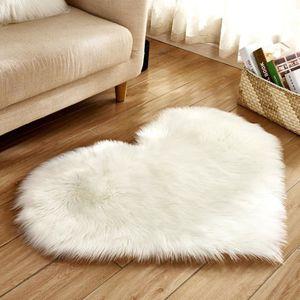 TAPIS Wool Imitation Sheepskin Rugs Faux Fur Non Slip Be