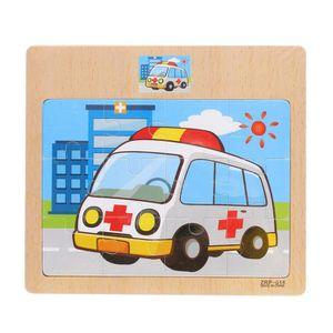 PUZZLE Puzzle jouet en bois pour le trafic et l'animal jo