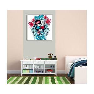 tableau tete de mort achat vente pas cher. Black Bedroom Furniture Sets. Home Design Ideas