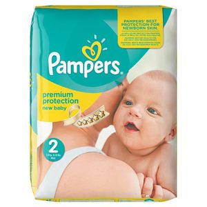 COUCHE Pampers - Couches Taille 2 (3-6 kg) - Pack Economi