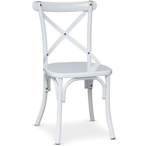 CHAISE Chaise Bistrot En Metal Angie Blanc