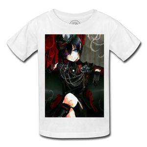 T-SHIRT T-shirt enfant black butler ciel phantomhive manga