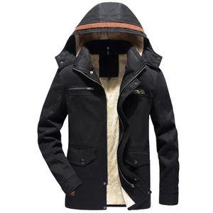 MANTEAU - CABAN Hommes Veste Hiver chaud Pardessus Outwear Slim lo ... a28e242abdd5