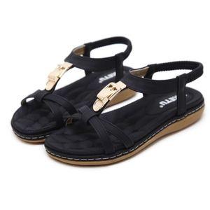 SANDALE - NU-PIEDS Sandales Plates Femmes Chaussures de Ville été à T