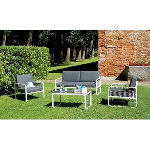Table jardin imitation bois - Achat / Vente pas cher