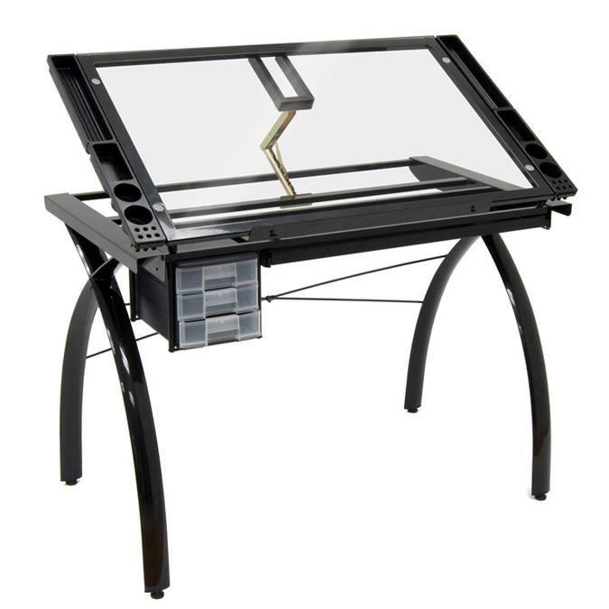 Table 224 Dessin Futura Noire Achat Vente Table A Dessin