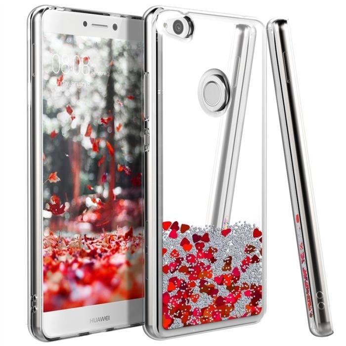 coque huawei p8 lite 2017 rouge silicone