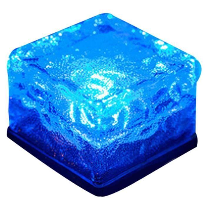Bleu Brique à glace en verre extérieur solaire à LED, feux enterrés ...