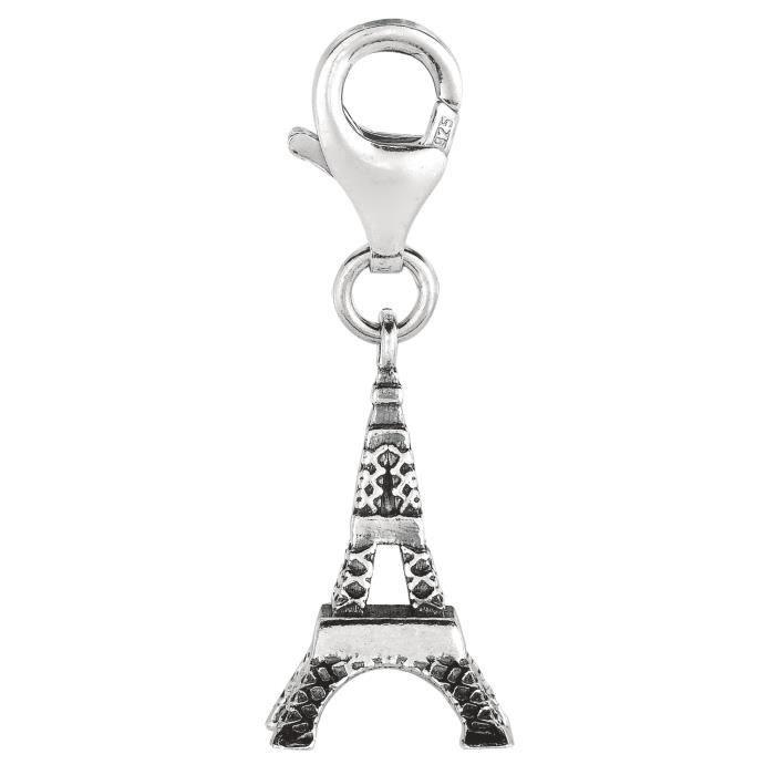 Charme- Clip en argent sterling charme Tour Eiffel
