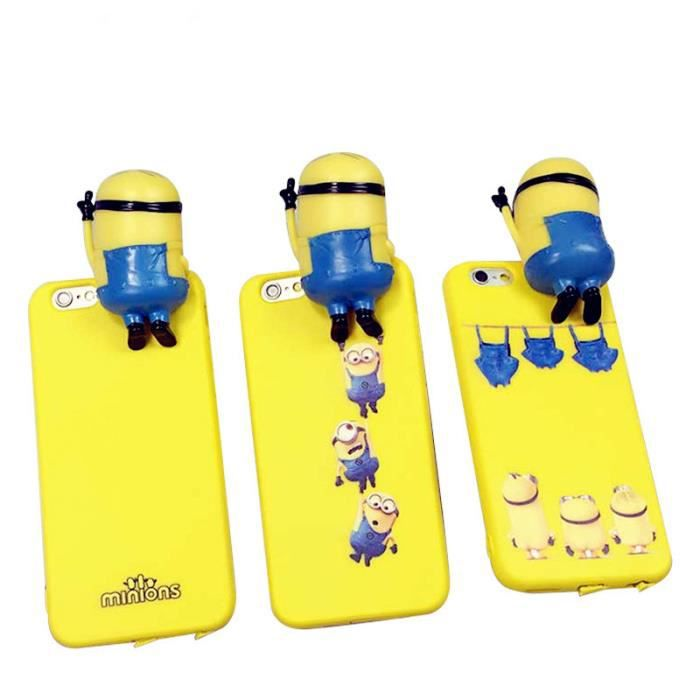 coque iphone 6 minion 3d