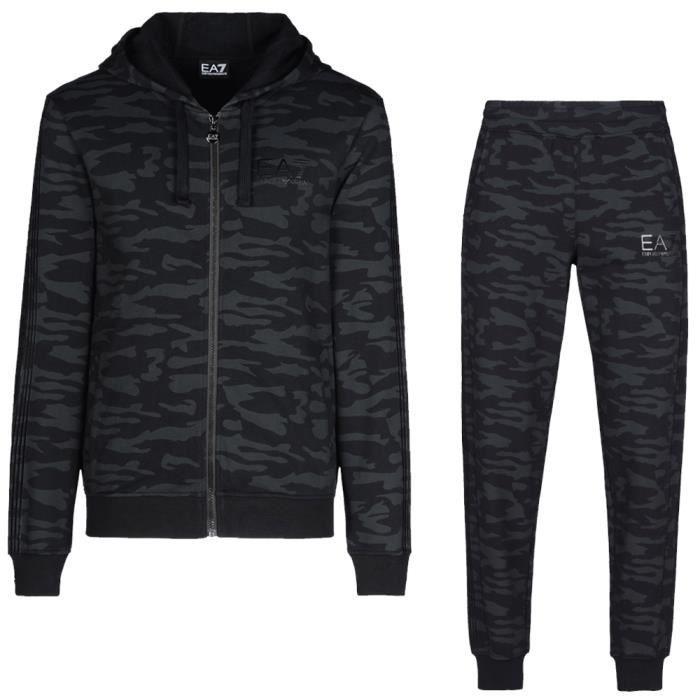 EMPORIO ARMANI Survêtement camouflage EA7 - Homme - Noir noir ... bd8ffe0a2bb