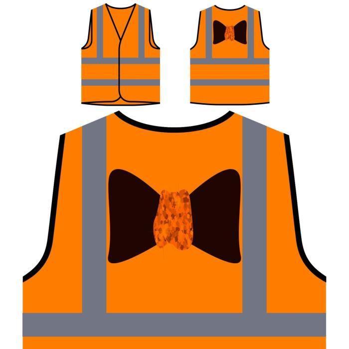 bow Protection Luxury À Pe Parts Veste Haute Visibilité Personnalisée De Masks Orange Collection New Art 01nxqR5