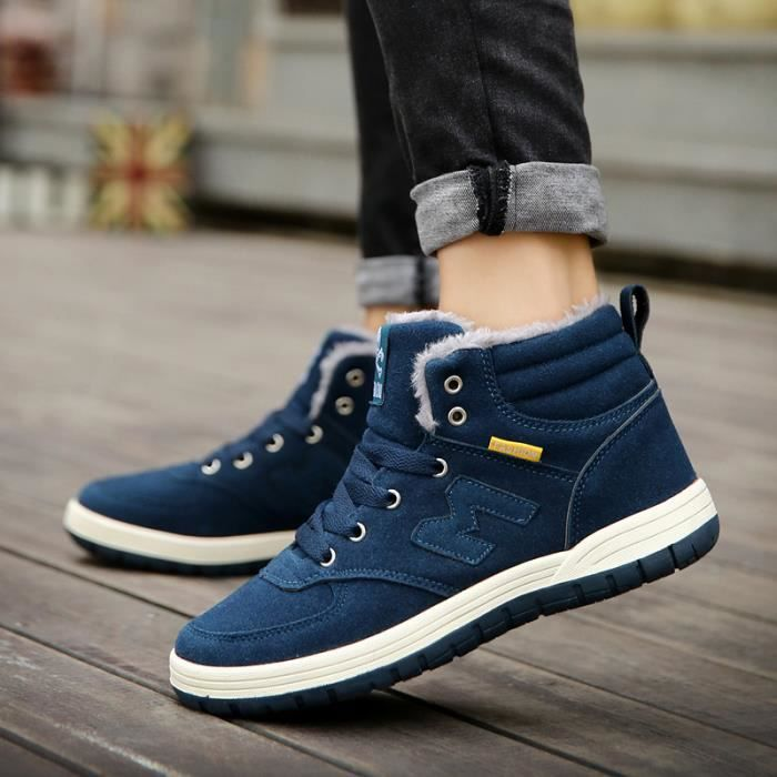 chaussures hommes en cuir snow boots chaussure homme xyoga5