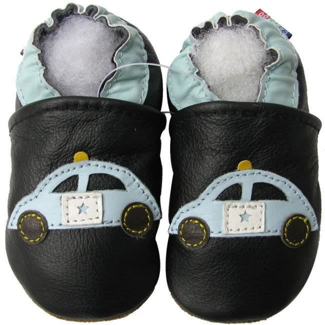 Chaussons Carozoo enfant cuir souple Police NzX7bnn