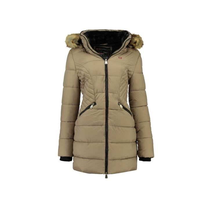 ce22fad0900 Doudoune longue Femme Geographical Norway Abby Taupe Gris Taupe ...