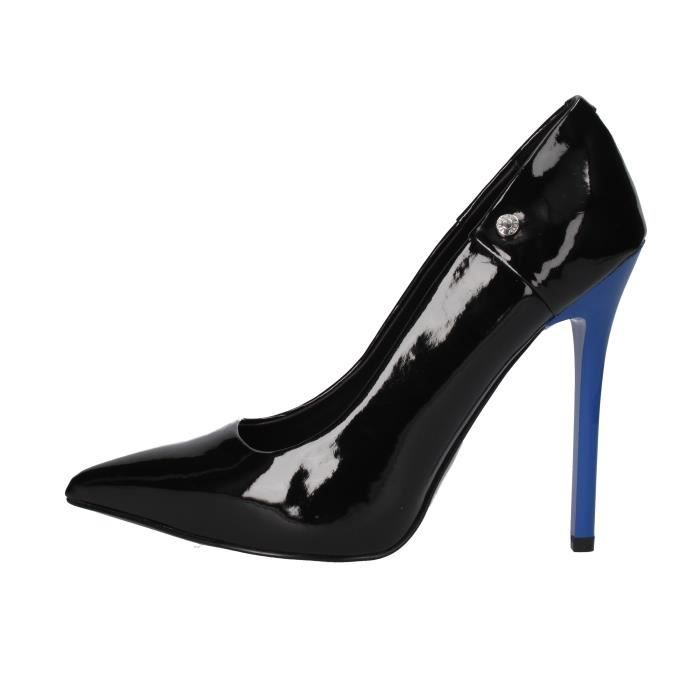 Femme Verni Noir Chaussures Versace Jeans Escarpin Af899 nvN8m0w