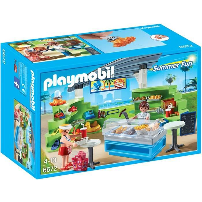 Playmobil Espace Boutique Fast Food