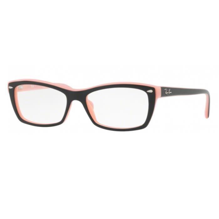 4a8eea6810 Lunettes de vue Ray-Ban RX5255 5024 Top Black On Pink 51-16 Noir ...