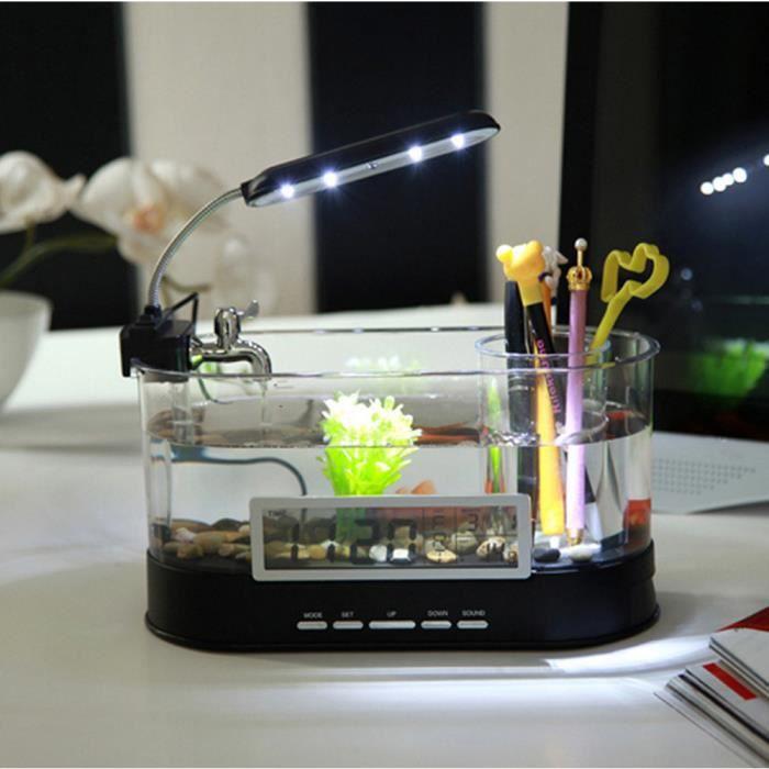 Vococal mini desktop poissons d 39 aquarium r servoir usb for Mini poisson aquarium