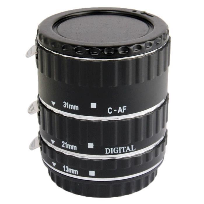 Bague d extension appareil photo Auto Macro Extension Tube Set reflex  numérique Canon Matériel  Cuivre Noir 820c16203cf5