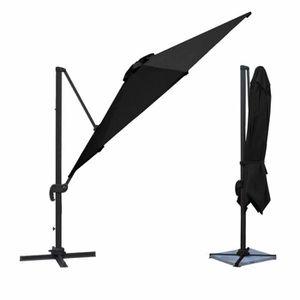 parasol d port carr achat vente parasol d port carr pas cher soldes d s le 10 janvier. Black Bedroom Furniture Sets. Home Design Ideas