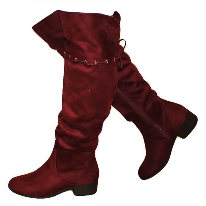 IC5HN genou dessus MVE Slouchy Fermeture 39 W 1 du Bottes Entrelacs Ouest 2 Chaussures Taille Inspired Au R7Ewzdqw