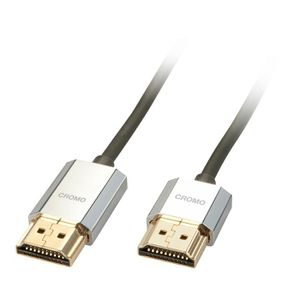 LINDY Câble HDMI? Slim - Compatible HDMI 2.0 Ultra HD - Avec Ethernet CROMO? - Type A / A - 2m