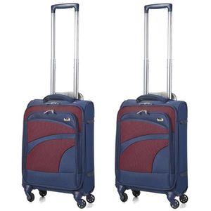 SET DE VALISES Aerolite Set de 2 55x35x20cm Bagages Cabine Valise