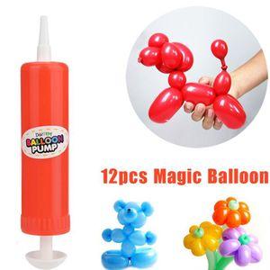BALLON DÉCORATIF  12 PCS Latex Twisting Ballons magiques Ballons lon