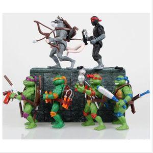 FIGURINE - PERSONNAGE 6PCS Figurine Mutant TMNT Teenage Mutant Ninja Tur