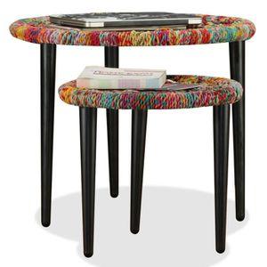 TABLE BASSE R64 Ces 2 tables basses entierement faites a la ma