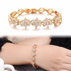 BRACELET - GOURMETTE Deessesale®Femmes zircon fine diamant plaqué Handm ... 0f79598fdccd
