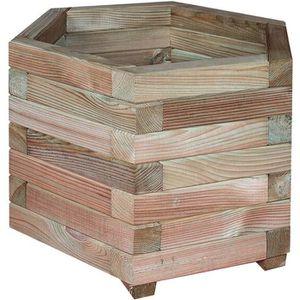 JARDINIÈRE - POT FLEUR  Jardinière hexagonale Jonquille 50