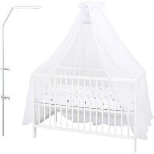 CIEL DE LIT BÉBÉ Callyna ® - Ciel de lit bébé avec support. Blanc N