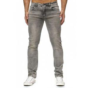 JEANS Hommes Jeans Pantalon Slim Fit Vintage délavé Skin