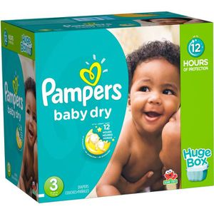 COUCHE 456 Couches Pampers Baby Dry taille 3