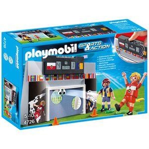 UNIVERS MINIATURE Playmobil Mur De Tir Au But Et Joueurs