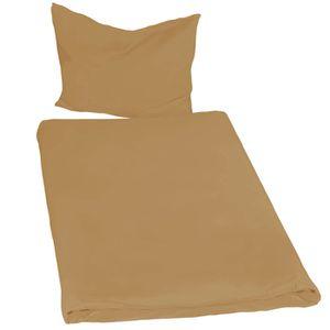 PARURE DE DRAP Parure de lit 100% Polyester 2 Pièces (1 Taie d'or