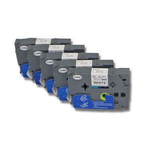 RUBAN - ENCREUR 5 x Cassette à ruban pour Brother P-Touch 200, 300