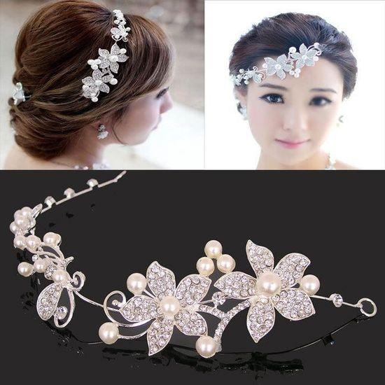 5e4c5994e8c3 Accessoires pour cheveux accessoires de mariage mariée bijoux de la chaîne  en alliage doux gros coréenne