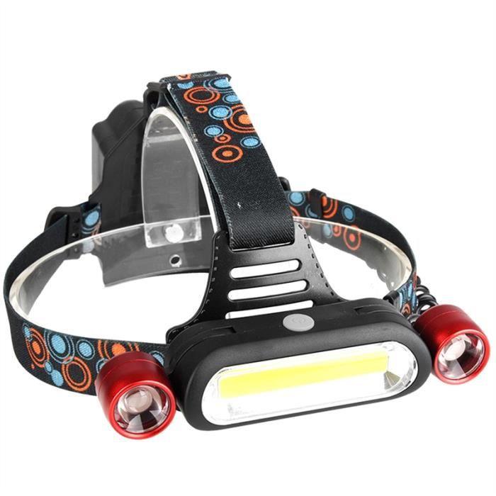 Frontale Extérieur Rechargeable 2 Lampe Led Piles Sifflet 18650 D'urgence Vélo Et Étanche Sos 8On0vmwN