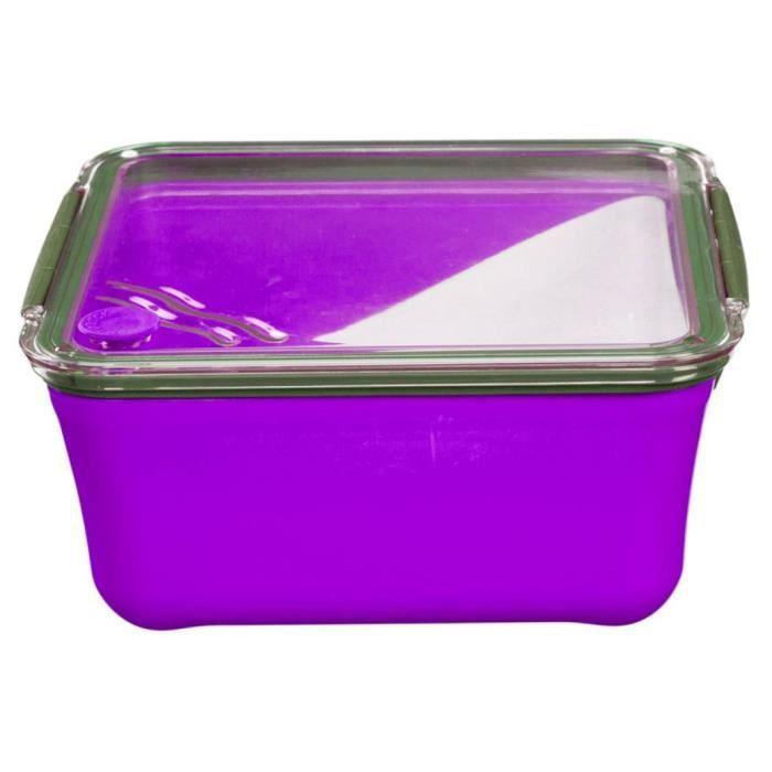 lunch box violet achat vente pas cher. Black Bedroom Furniture Sets. Home Design Ideas