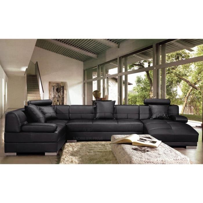 canap sofa divan canap dangle en cuir italien 8 places - Canape Angle 8 Places