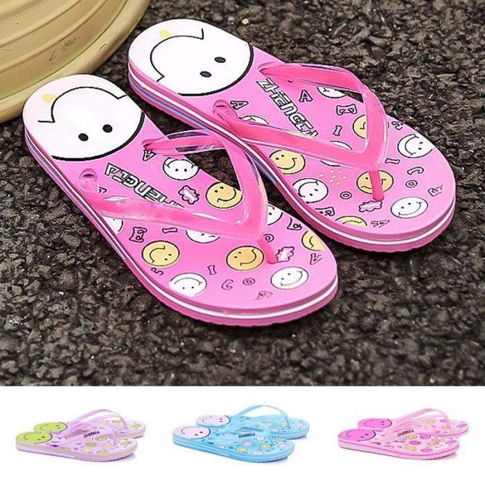 Style coréen Pinkycolor Chaussons féminins lumière Flip Flop