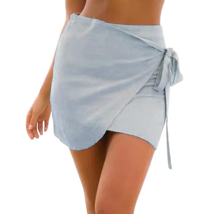 Denim De Bleu Jean Plage Court Été Troué Taille Aqua Eu Ete Medium Short Pantalons Femme Vintage Minetom Haute Mode Shorts v8ywmN0nO