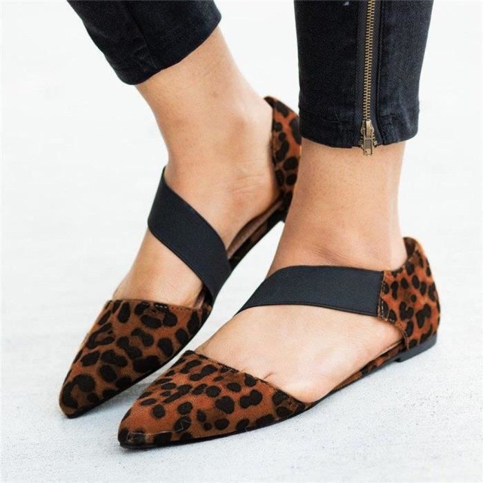 Toe Pointu Chaussures Mode Femmes Casual Sandales Plates 0P8nymwvNO