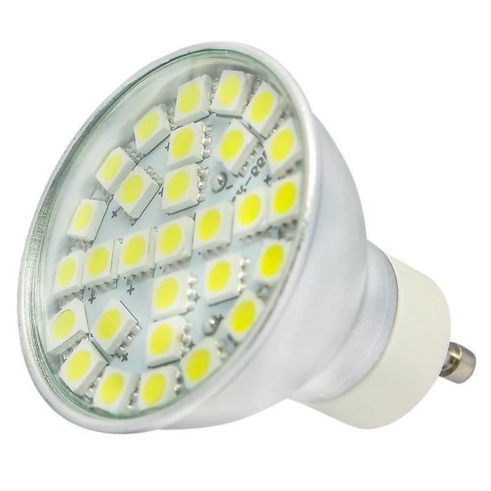 5w Smd Blanc Led Gu10 Lampe Froid Bulb 5050led 20x Ac190 Spot Ampoules 29 240v xBroedC
